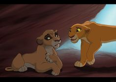 "It had been several days since the prides jointed. Vitani was worries that the pride landers wouldn't like her. Someone entered the cave. It was princess kiara. ""Hey, you're kovu's sister, right?"" she said. ""Kovu said you're a great hunter. Can you teach me?"" ""Really?"" Vitani said as she followed kiara out of the cave. Vitani smiled. This looked like the start of a good friendship to both of them."