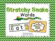 Stretchy Snake Blending Sounds Activity $
