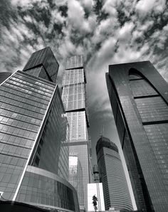 Amazing Snaps: Moscow...even in black & white, those clouds are wonderful.  <3
