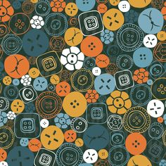 Buttons Galore! fabric by licoricelove (Sylvia.T) on Spoonflower - custom fabric