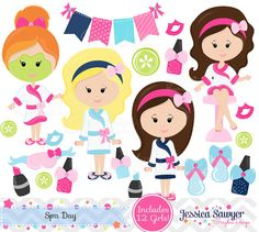 INSTANT DOWNLOAD spa clipart and vectors for personal and
