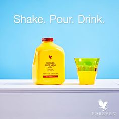 Kickstart your day with a shot of Forever Aloe Vera Gel. Shake. Pour. Drink. It's that easy. #foreverliving #aloe #aloedrink #aloedrinks #healthylifestyle