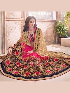 Beautiful Georgette and Net Fabric Saree  #saree #sareeswag #tradiotional #printedsaree #FeelRoyal #festive