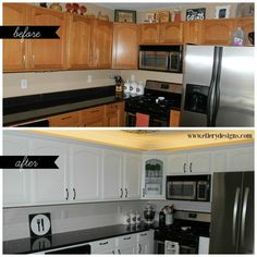 Best Way to Paint Your Kitchen Cabinets White - www.ellerydesigns.com