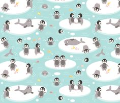© Heleen van Buul 2015  See the Penguins on ice collection for a variety of co-ordinating designs.