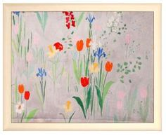 This Tulips reproduction is printed in the studio on summerset fine art acid free paper and has been licensed from Marrot's collection of original work which is housed in the Musee d'Orsay.  Product in photo is from www.wellappointedhouse.com