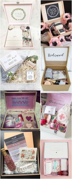 Bridesmaid proposal box Thank You Gift Bridesmaid a3 #12 Bar Initial Necklaces Will you be my Bridesmaids gifts Wedding Party Thank You
