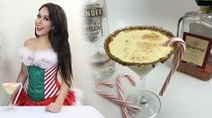Holiday eggnog with amaretto and vanilla vodka Kid Drinks, Party Drinks, Alcoholic Drinks, Beverages, Cocktails, Cake Batter Martini, Eggnog Martini, Healthy Christmas Recipes, Holiday Recipes