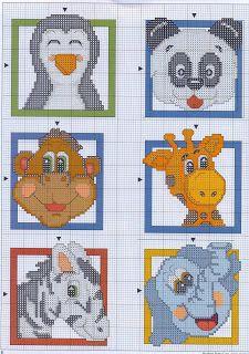 Cool idea for plastic canvas coasters. I'd make mine all giraffes though