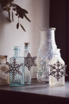 Etched Snowflake Set