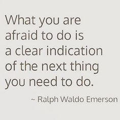 Pinned onto Life Quotes Board in Gratitude Category The Words, Cool Words, Ralph Waldo Emerson, Motivational Quotes For Depression, Inspirational Quotes, Words Quotes, Me Quotes, Sayings, Afraid Quotes