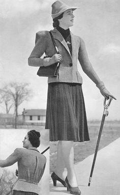 Vintage 1930s Norfolk Jacket Suit Knitting Pattern PDF 3927