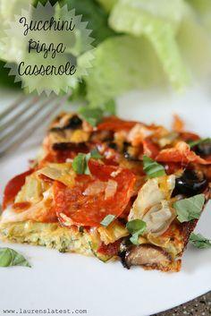 Zucchini Pizza Casserole - low carb