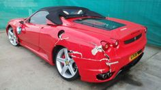 Car insurance fraudster sent to prison for claiming fake crash of his fake Ferrari