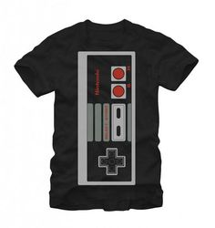 Commemorate your favorite cult classic with an awesome Nintendo Big Controller Adult Black T-Shirt . Free shipping on Nintendo orders over $50.