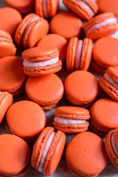 These blood orange macarons bursting with flavor! They're infused with orange extract and filled with a decadent blood orange buttercream. Orange Aesthetic, Rainbow Aesthetic, Aesthetic Colors, Aesthetic Collage, Aesthetic Shop, Aesthetic Drawing, Orange Wallpaper, Food Wallpaper, Orange Pastel