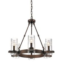 """View the Millennium Lighting 806 Tulsa 6 Light 24"""" Wide Chandelier with Glass Shades at Build.com."""