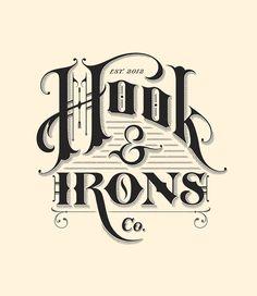 HOOK & IRONS CO. cool font
