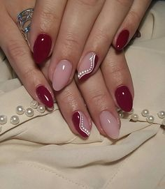 Nail Shapes - My Cool Nail Designs Fancy Nails, Pink Nails, Pretty Nails, Red Nail Designs, Best Nail Art Designs, Nagellack Design, Super Nails, Nagel Gel, Manicure And Pedicure