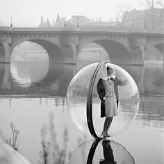 """Melvin Sokolsky's """"Bubble series"""" for Harpers Bazaar, 1963, Spring Collection."""
