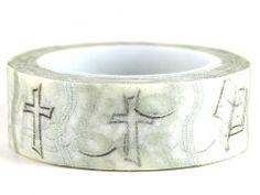 Faith – GetWashi.com - Washi tape with the cross, Bible, and fish symbols.  $1.97