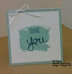 """Mini thank you card using the new 'Work of Art"""" stamp set from the 2014-15 catalogue Images © Stampin' Up! www.mel.stampinup.net"""