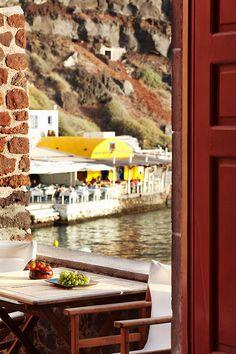 Secret view to Ammoudi, Santorini