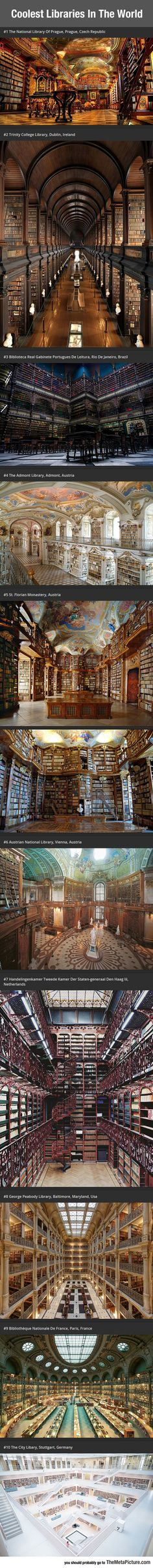 Best Libraries In The World. Need to go to all of them, been to #2!!!!!