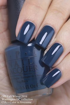 Dark blue nail polish opi sephora coupon 50 off nails bluenail darkbluenail beauty fashion makeup colorfulnail slim fit jeans fr damen Opi Blue Nail Polish, Best Nail Polish, Blue Shellac Nails, Fancy Nails, Cute Nails, Pretty Nails, Hair And Nails, My Nails, Dark Blue Nails