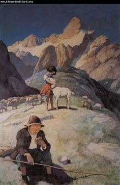 by N.C. Wyeth  from Heidi - One of my all time favorite stories as a little girl.