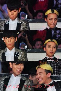 They are killin me!! TOP's like Hey. GD: wat. TOP: love you. GD: *happy yet surprised* what? At bottom: yaaay they got together~
