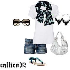 """""""Summer"""" by callico32 on Polyvore                   #abbigliamento"""
