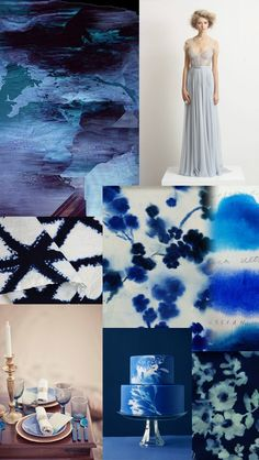 Inky Indigo Sun-Print Inspiration | Whiter than White Weddings