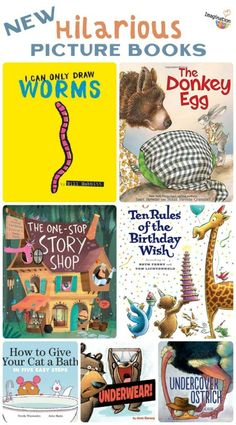 Do your kids like funny books as much as mine? These new picture books will appeal to your kids who love stories that make them laugh.