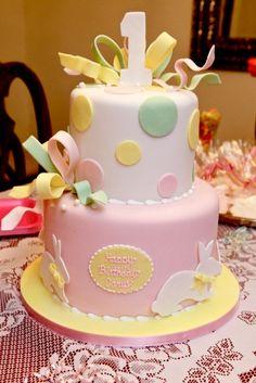 Amy Beck Cake Design - Chicago, IL - Birthday bunny cake - #amybeckcakedesign First Birthday Themes, 1st Birthday Photos, Birthday Ideas, Birthday Outfits, 2nd Birthday, Bunny Birthday Cake, Anna Cake, Cupcake Cakes, Baby Cakes