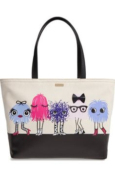 imagination monsters - francis canvas tote | Kate Spade New York