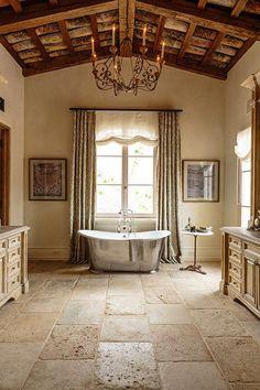 7 идей по использованию камня в ванной - Colors.life