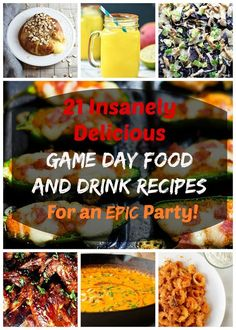 Make these mouth-watering recipes for your big game day party!!