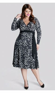IGIGI by Yuliya Raquel Neve Wrap Dress in Abtruse Dot in Black & White