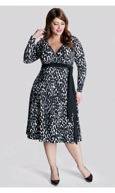 IGIGI by Yuliya Raquel Neve Wrap Dress in Abtruse Dot in Black & White