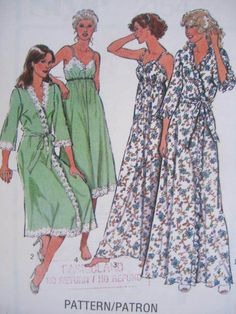 See Sally Sew-Patterns For Less - Lingerie Negligee