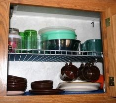 Wire Shelving Doubles Space-RV 002.1