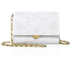 Michael Kors Collection Yasmeen Small Soutache Leather Clutch (10.760 ARS) ❤ liked on Polyvore featuring bags, handbags, clutches, chain strap purse, man bag, michael kors purses, genuine leather handbags and chain handle handbags