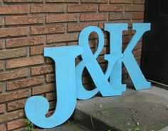 Wood Letters and Ampersand.  Custom Large by Route17WestWeddings, $114.00