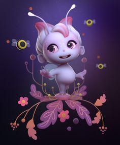 Flower Fairy , Alina Makarenko on ArtStation at https://www.artstation.com/artwork/OYNVb