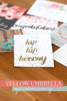 Yellow Umbrella Stationery Giveaway - Hello Nature