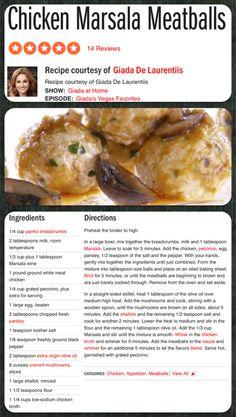 Giada's Chicken Marsala Meatballs