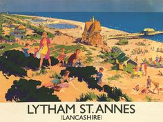 TRAVEL-ENGLAND-LANCASHIRE-LYTHAM-ST-ANNES-BRITISH-RAILWAYS-PRINT-POSTER-BB9730