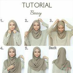 Tutorial for hijabers – Hijab Fashion 2020 Square Hijab Tutorial, Simple Hijab Tutorial, Pashmina Hijab Tutorial, Hijab Style Tutorial, Stylish Hijab, Casual Hijab Outfit, Ootd Hijab, Hijab Chic, Hijab Dress