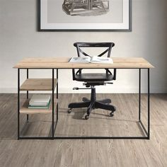 Crisp Rustic Style, Fantastic! Russian Hill Desk by Zuo Modern at #ATGstores #homeoffice